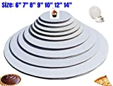 baker supplies - The Bakers Pantry - cake circles-, Sturdy White Corrugated Cardboard, 100% Food Safe (6