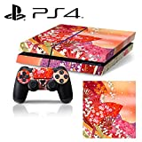 [PS4] Sakura Cherry Blossom Folding Fan Whole Body VINYL SKIN STICKER DECAL COVER for PS4 Playstation 4 System Console and Controllers offers