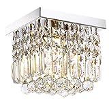 Moooni Hallway Crystal Chandelier 1 - Light W8' Mini Modern Square Flush Mount Ceiling Light Fixture