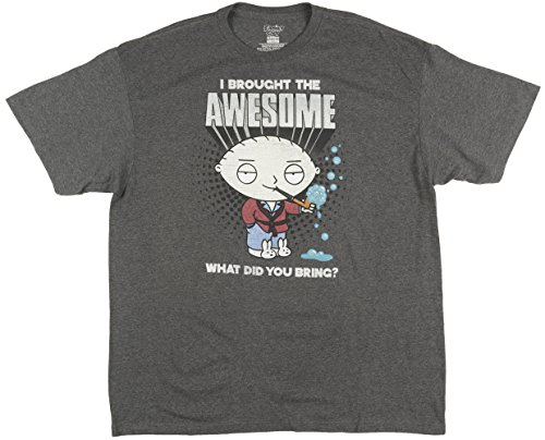 Top Family Guy Stewie Mens T-Shirt in Charcoal