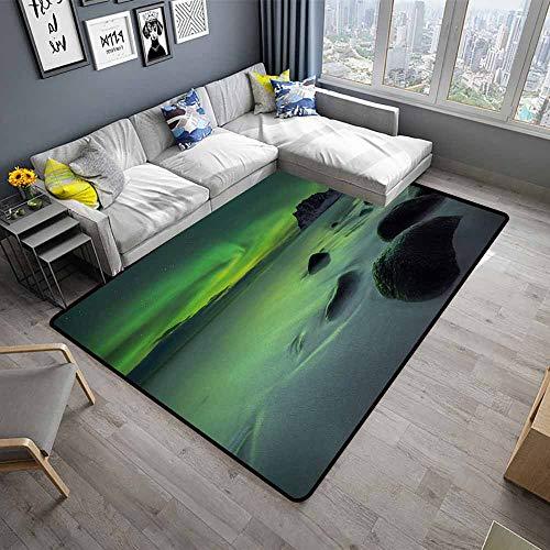 - Northern Lights,Designed Kitchen Bathroom Floor Mat 24