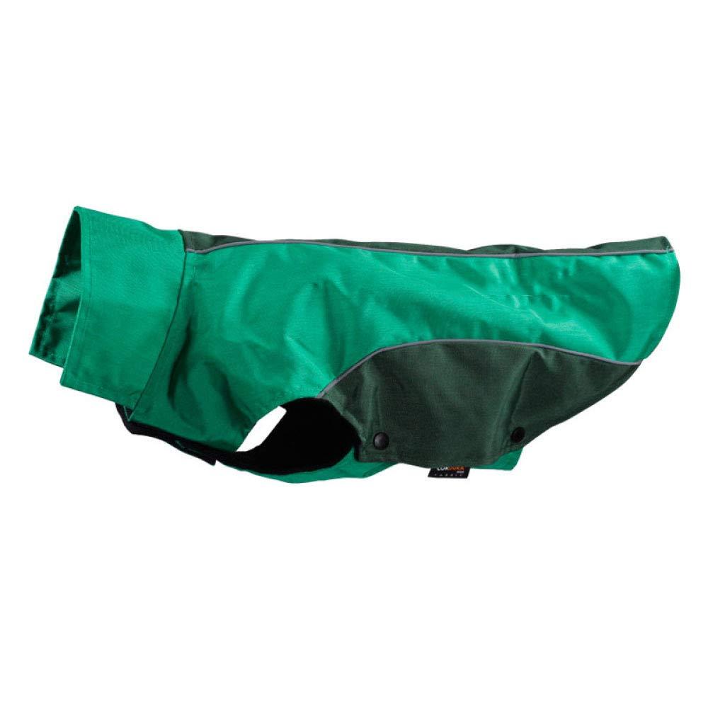 Dog Outdoor Jacket Pet Raincoat Windshield Waterproof Suit Warm Winter 3 Colors,Green-XXL