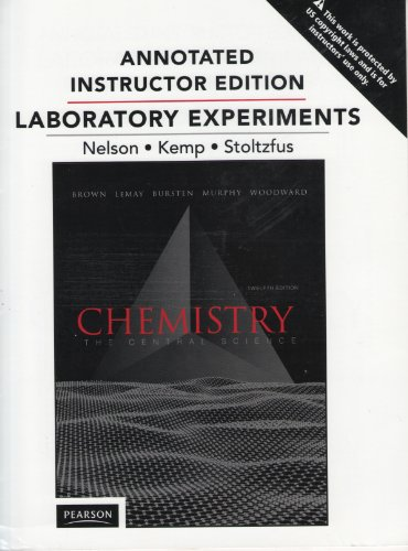 Chemistry the General Science Laboratory Experiments (Annotated Instructor Edition)