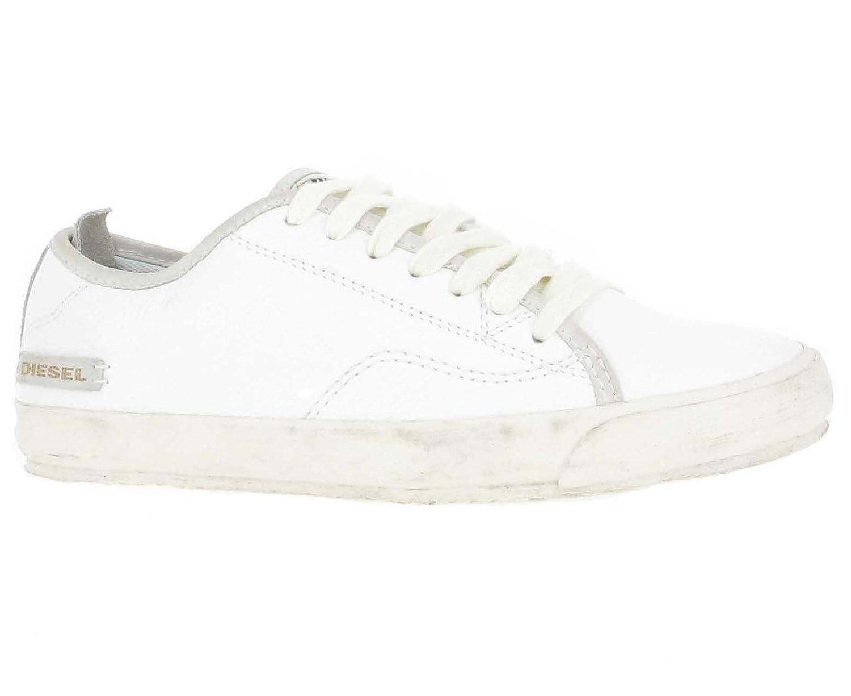 Diesel Lowday Herren Sneaker Aus Hochwertigem Leder  Weiß  Größe 43