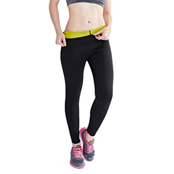 b38ccf84083 Hanmeimei Women s Slimming Pants Neoprene for Lose Weight Fat Burning Sweat  Sauna Capris Leggings Ankle Long
