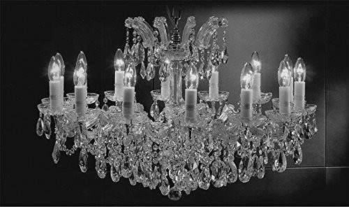 Made with Swarovski Crystal Maria Theresa Chandelier Crystal Lighting Chandeliers Lights Fixture Pendant Ceiling Lamp for Dining Room, Entryway, Living Room H 21 X W 31