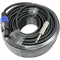 100 Foot 12 Gauge 1/4 to Speakon Compatible Speaker Cable For PA DJ Speakers