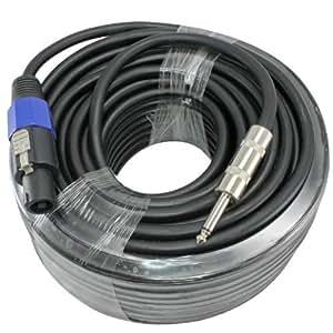 100 foot 12 gauge 1 4 to speakon compatible speaker cable for pa dj speakers. Black Bedroom Furniture Sets. Home Design Ideas