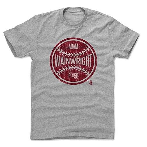 - 500 LEVEL Adam Wainwright Cotton Shirt X-Large Heather Gray - St. Louis Baseball Men's Apparel - Adam Wainwright Ball R