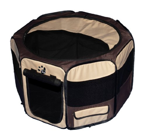Pet Gear Travel Lite Portable Play Pen/Soft Crate with Removable Shade Top for Dogs/Cats/Rabbits, Easy-Fold + Built-in Stay Fold Band, Durable 600D Fabric, Indoor/Outdoor, 3 Sizes by Pet Gear