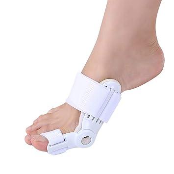 EQLEF® 2 piezas juanete incluido y fundas para dedo gordo para juanetes y luz roja para tratamiento ...