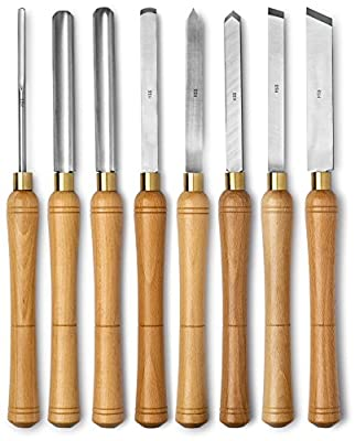 Werks Lathe Set, HSS blades, 8pc, Quality Wood Make