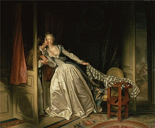 Oil Painting 'Fragonard, Jean-Honore_1780s_The Stolen Kiss', 10 x 12 inch / 25 x 31 cm , on High Definition HD canvas prints is for Gifts And Dining Room, Gym And Kids Room Decoration