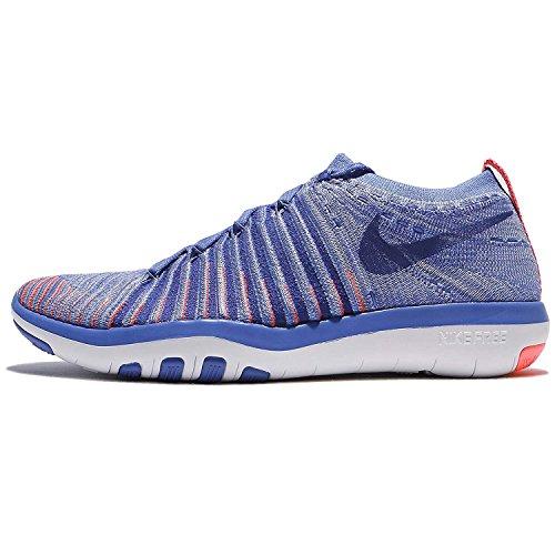 Nike Womens Free Transform Scarpe Da Allenamento Flyknit Medium Blue / Concord-lava Glow