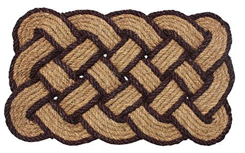 Natural Handmade Woven Coir Coco Fiber Non-Slip Outdoor/Indoor Doormat, 22x36