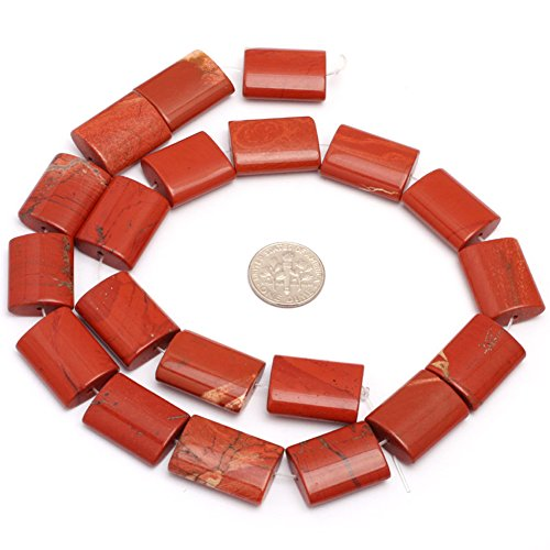 (15x20mm Natural Semi Precious Rectangle Red Jasper Gemstone Beads for Jewelry Making Strand 15