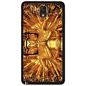 Gold Colored Buddha - Phone Case Back Cover (Galaxy Note 3 - Plastic)