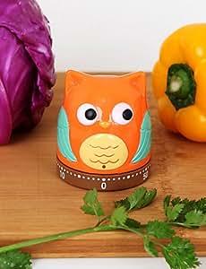 JIAO- Owl Pear Shaped Timer 60 mins Analog Kitchen Timer