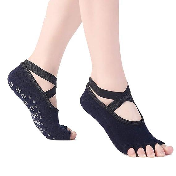 Zoylink Calcetines De Yoga Calcetines Sin Punta Calcetines Antideslizantes Summer Grip Para Ballet Pilates: Amazon.es: Ropa y accesorios