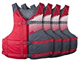Stohlquist Fit Adult PFD Coast Guard Approved Universal, Red
