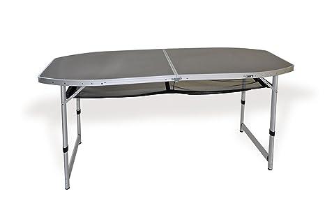 Tavolo Da Terrazzo Pieghevole : Con.ver tavolo da campeggio pieghevole glitter con ripiano effetto