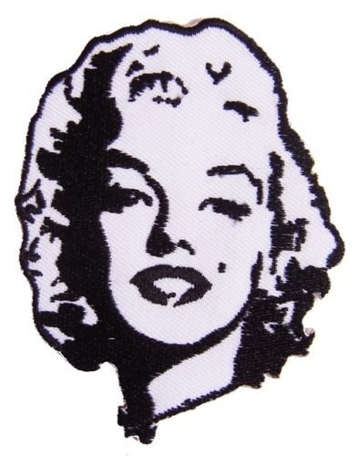 2.75//6.99cm x Approx 3.25//8.26cm By MNC Shop by MNC Patch Marilyn Monroe iron on embroidery patchApprox