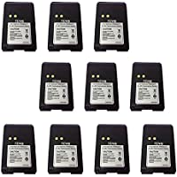 Tenq 10pack 1500mah Ni-mh Replacement Battery for Motorola Radios Mag One Bpr40 A8 Pmnn4071 Pmnn4071a Pmnn4071ar + Belt Clip