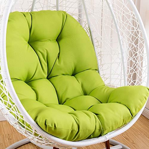 DULPLAY Swing Hanging Basket Seat Cushion, Thicken Hanging Egg Hammock Waterproof Chair Seat Cushioning for Patio Garden -Green 95x125cm(37x49inch) (Wicker Offers Egg Hanging Chair)