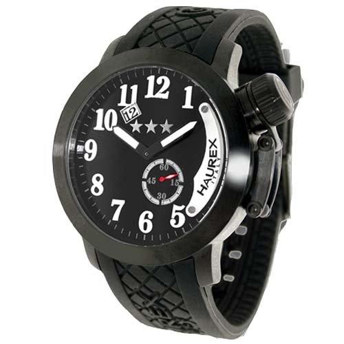 Haurex Italyメンズ1 N320un1 Armataブラックダイヤル腕時計。 B0059KX1AC