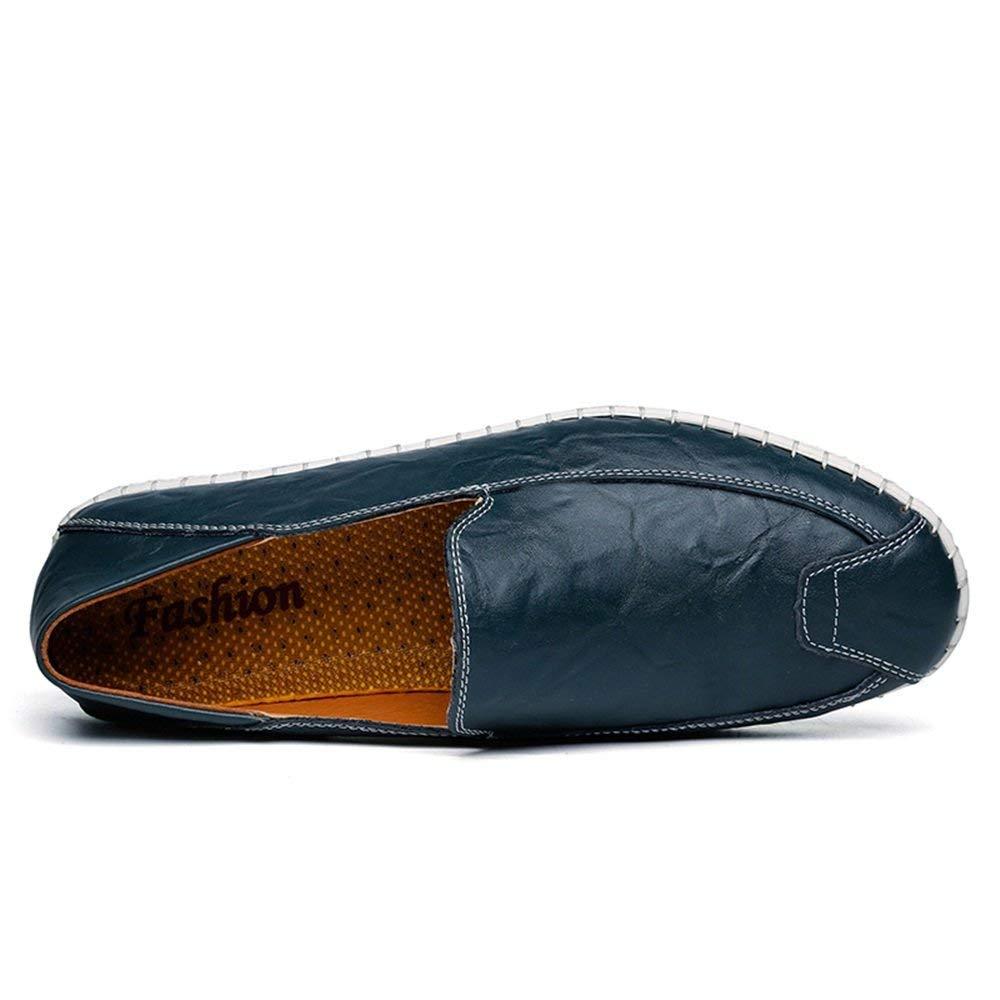 Herren Mokassins Schuhe, Schuhe, Schuhe, Mens Minimalismus Slip-on Loafers PU-Leder Volltonfarbe Fashion Driving Boat Mokassins Freizeitschuhe (Farbe   Blau, Größe   40 EU) (Farbe   Khaki, Größe   38 EU)  c3cbf7