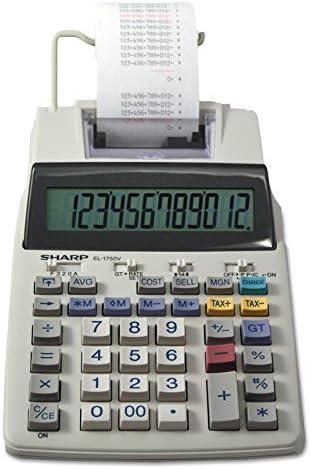 [Sponsored] Sharp EL-1750V 12 Digit Compact Desktop 2-Color Printing Calculator