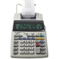 Sharp EL-1750V 12 Digit Compact Desktop 2-Color Printing Calculator