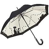 """Parapluie automatique à motif """"Chats noirs"""", double épaisseur"""
