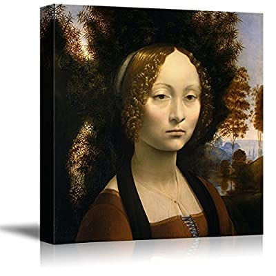 Fascinating Picture, Ginevra de' Benci by Leonardo da Vinci Print Famous Oil Painting Reproduction, Created Just For You