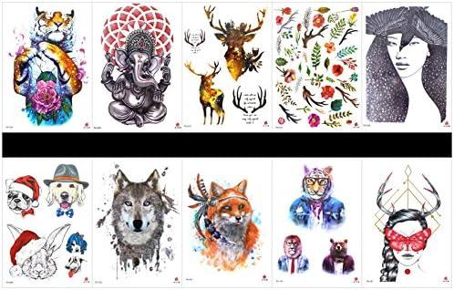 tatuajes temporales en un solo paquete, diseños mixtos como señora ...