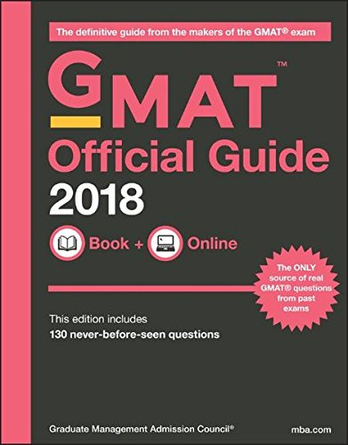 GMAT Official Guide 2018: Book + Online cover