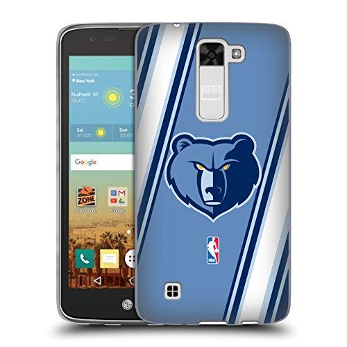 Official NBA Stripes Memphis Grizzlies Soft Gel Case for LG K7 K330 / Tribute - Memphis Shops Head