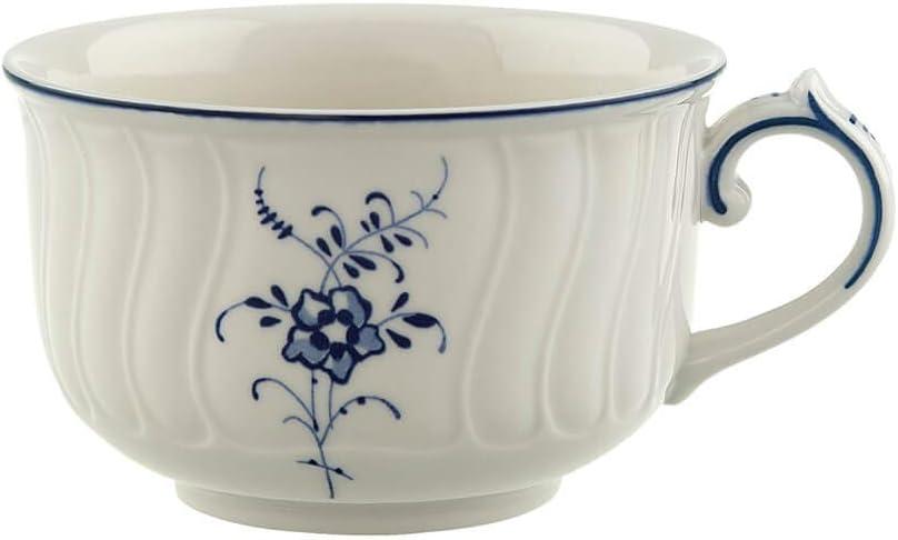Blanco//Azul 200 ml Porcelana Premium Villeroy /& Boch Vieux Luxembourg Taza de t/é