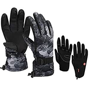 Amazon.com : Canflo Ski Snowboard Gloves - Waterproof Snow