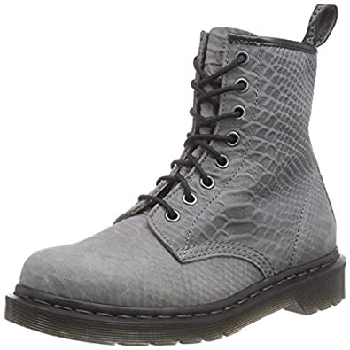 Dr martens 1460 python suede grey women 39 s boat shoes for Amazon dr martens