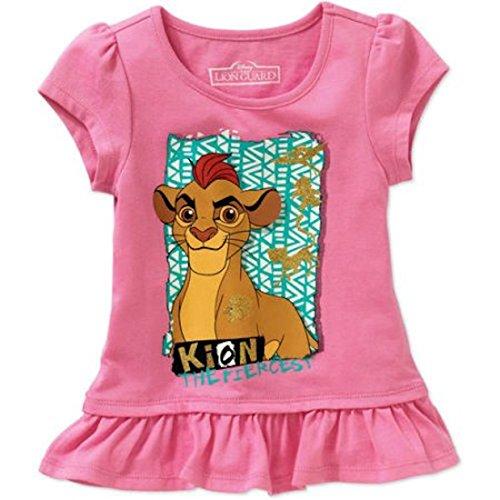 Network King - Disney The Lion King : Lion Guard Girls Kion Ruffle Tee 2T-5T (4T)