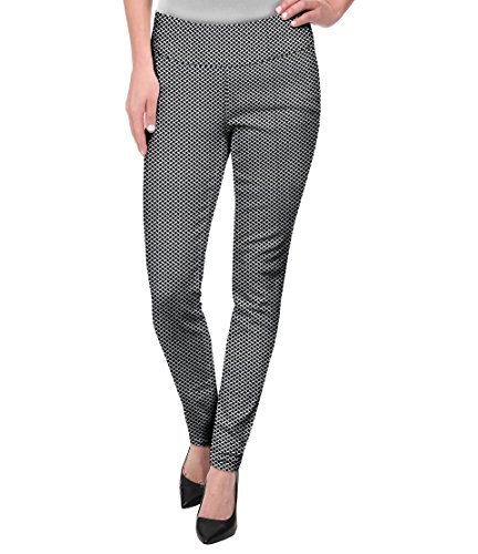 Gingham Pants (Super Comfy Stretch Pull On MILLENIUM Pants KP44972 10765 White Sticks L)