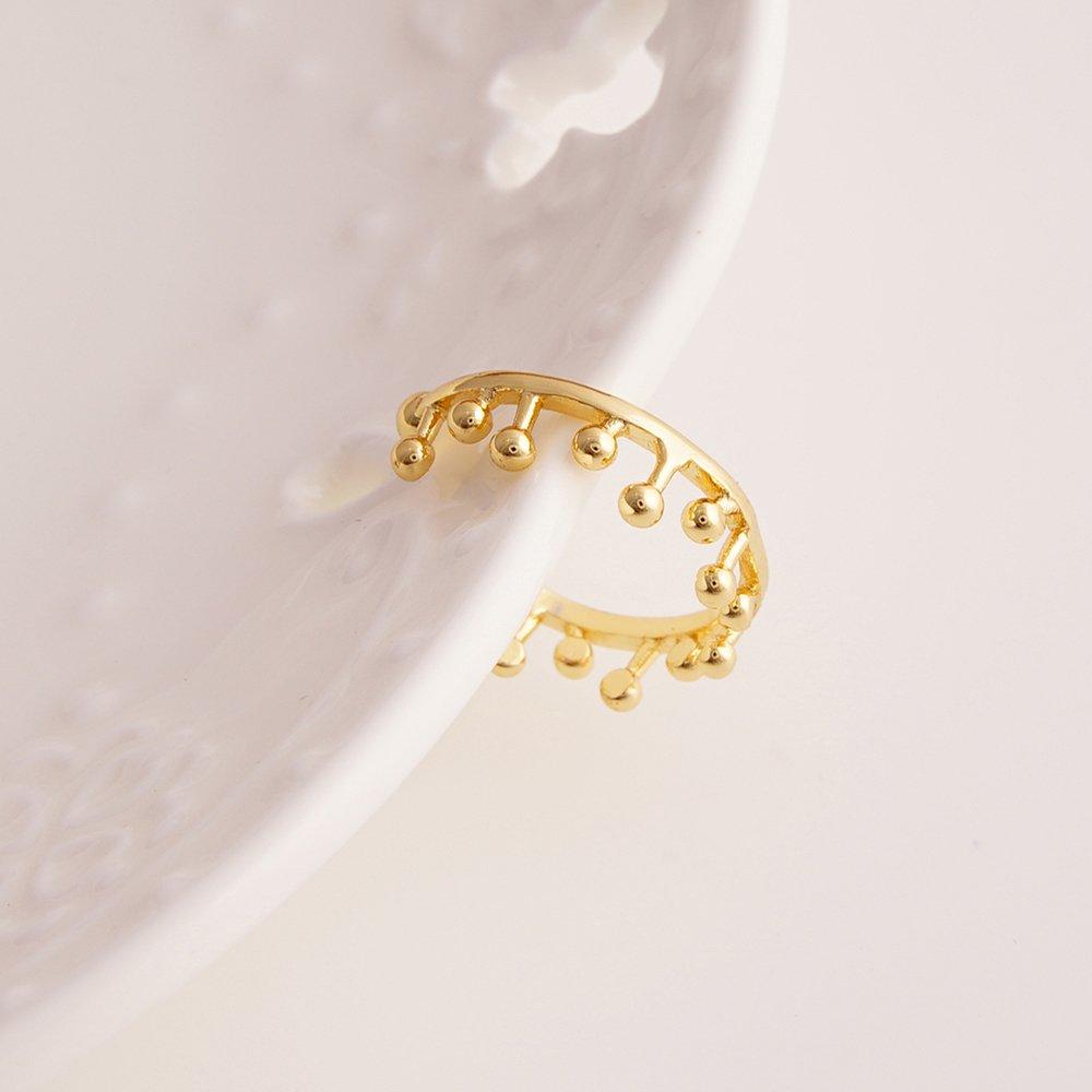 PANGRUI Exquisite Delicate Crown Slight Adjustable Ring