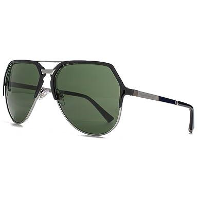 ea8f2e80f9e1 Dolce   Gabbana ADN lunettes de soleil aviateur en noir Bronze polarisé  DG2151 01 71