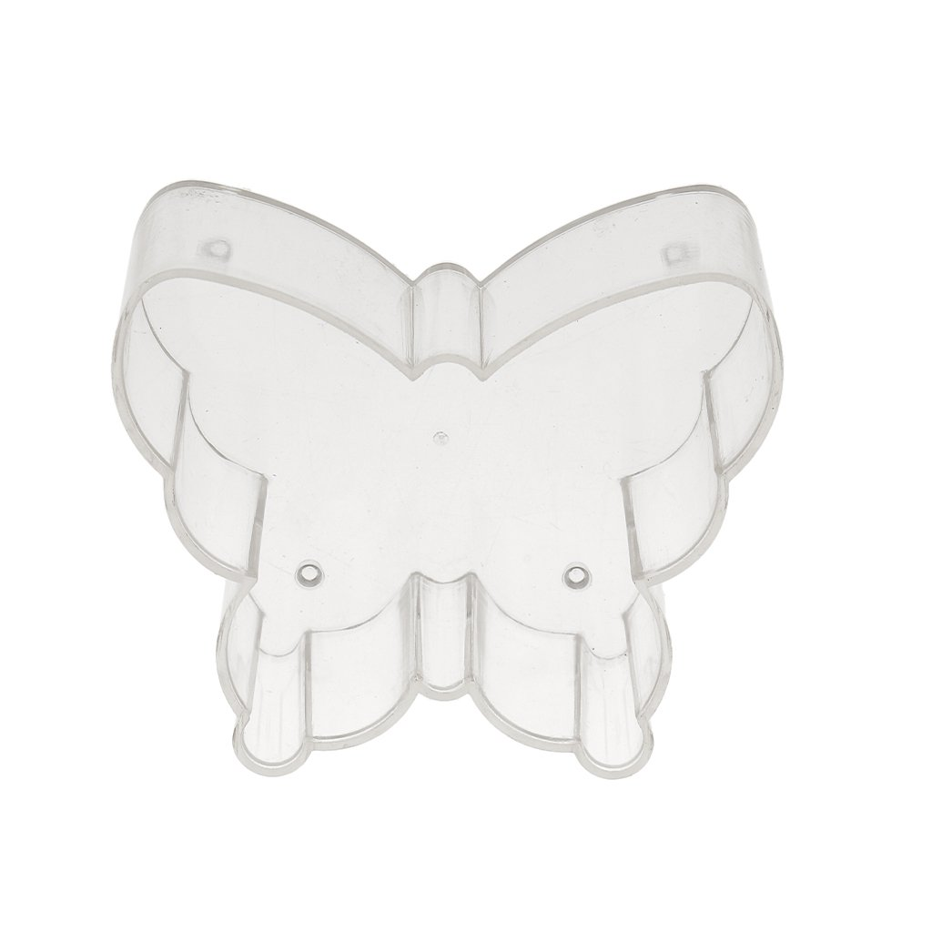 MagiDeal 20 Pieces Heart Butterfly Plastic Clear Tealight Cups Wicks Containers Candle Mold for Wedding Church Decoration