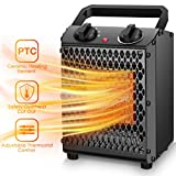 Air Choice Portable Space Heater - 1500W/750W Electric Heater with 3 Modes & Adjustable Thermostat, Ceramic Space Heater for Office, Home, Indoor Use, Overheat Protection, Quiet, personal desktop fan