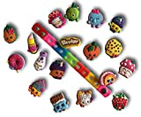 Jibbitz for Crocs Shoes by Nenistore| Cute Shoe Charms Plug Accessories for Crocs & Bracelet Wristband Party Gifts| Shopkins (Set of 9 assorted pcs) FREE 01 Silicone Wristband 7 Inches