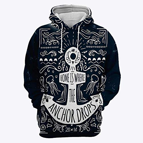 3D Print Medieval Decor Men's Pullover Winter Jackets Hooed Fleece Hoodies Sweat
