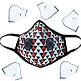 HOLIIBN Military Grade Anti Pollution/Anti Haze/Dust Proof/Air Filter Mask with 6 N99/N95 Replacement Filters for Women,Kids,Exhaust Gas, Pollen Allergy, PM2.5, Running, Cycling, Outdoor Activities