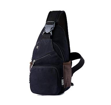 36cd6cd8af16f WYBXA Herren Brusttasche Canvas Lässig Im Freien Kleiner Rucksack Mode  Umhängetasche Canvas Umhängetasche